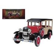 Arko 1929 Ford Woody Wagon Burgundy 1-32 Diecast Car Model (DTDP918)