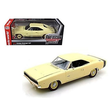 Autoworld 1968 Dodge Charger R & T SS1 Light Yellow 1-18 Diecast Model Car (DTDP1693)