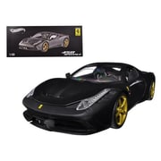 Hot wheels Ferrari 458 Speciale Elite Edition Matt Black 1-18 Diecast Car Model (DTDP2444)
