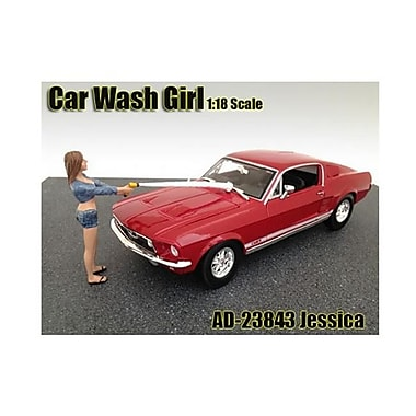 American Diorama Car Wash Girl Jessica Figurine Figure for 1-18 Models (DTDP1998)
