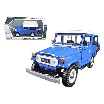 Motormax Toyota FJ40 Blue 1-24 Diecast Model