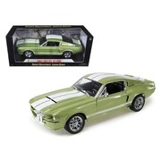 Shelby Collectibles 1967 Ford Shelby Mustang GT 500 Green & White Stripes 1-18 Diecast Model Car (DTDP1053)