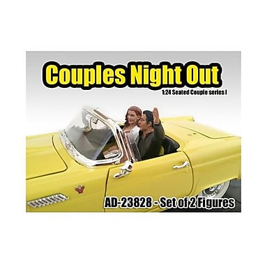 American Diorama Seated Couple 2 Piece Figure Set Release 1 for 1-24 Models (DTDP1983)