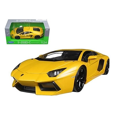 Welly Lamborghini Aventador LP700-4 Yellow 1-24 Diecast