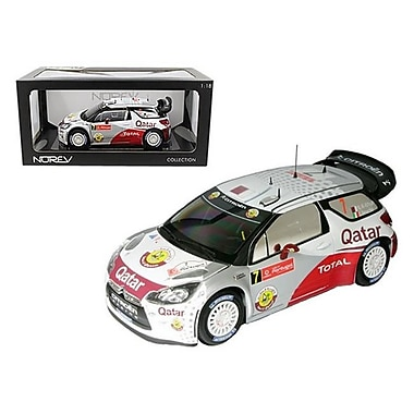 Norev Citroen DS3 No.7 WRC Rally Portugal 2012 Al-Attiyah Bernacchini 1-18 Diecast Car Model (DTDP1272)