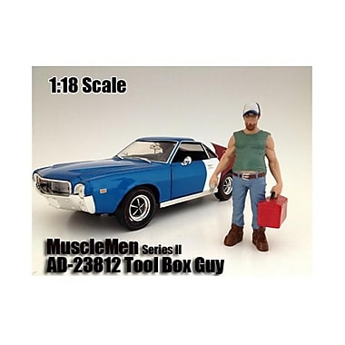 American Diorama Musclemen Tool Box Guy Figure for 1-18 Scale Models (DTDP1971)