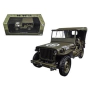 Welly 1 4 Ton US Army Jeep Vehicle WW 2 Hard Top 1-18 Diecast Model Car (DTDP1633)