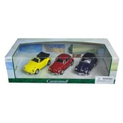 Cararama 1 by 43 Diecast Volkswagen Beetle 3pc Gift Set Model Cars (DTDP2936)