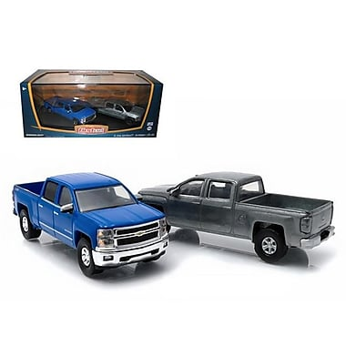 Greenlight First Cut 2014 Chevrolet Silverado Pickup Trucks Hobby Only Exclusive 2 Cars Set 1-64 Diecast Models (DTDP1459)