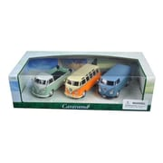 Cararama 1 by 43 Diecast Volkswagen Buses 3pc Gift Set Model Cars (DTDP2935)