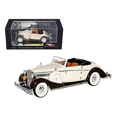 Signature Models 1937 Maybach SW38 Spohn 2 Doors Tan Convertible 1-43 Diecast Car Model (DTDP1028)