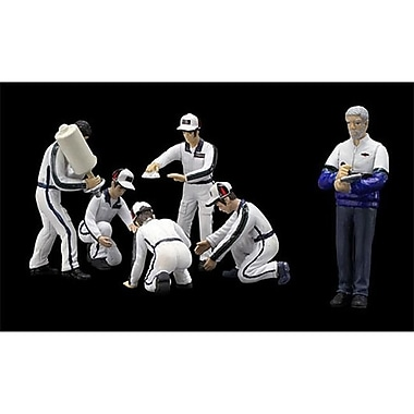 True Scale Miniatures Pit Crew Figurines Martini Racing Set of 6 for 1-43 Scale Models (DTDP2618)