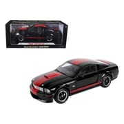 Shelby Collectibles 2008 Ford Shelby Mustang GT Coupe Black Barrett Jackson Edition 1-18 Diecast Car Model (DTDP2081)