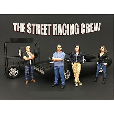 American Diorama The Street Racing Crew Figure Set for 1-24 Scale Models (DTDP3866)