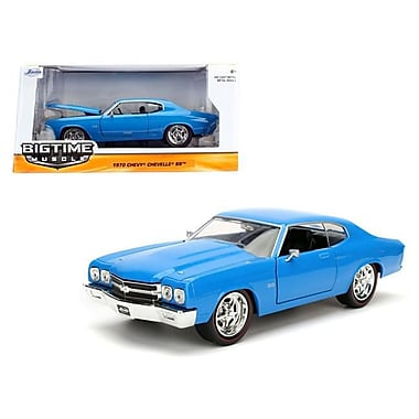 Jada 1 by 24 Scale Diecast 1970 Chevrolet Chevelle SS Blue Model Car (DTDP3079)