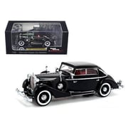 Signature Models 1938 Maybach SW38 Spohn 4 Doors Black Convertible 1-43 Diecast Car Model (DTDP1027)