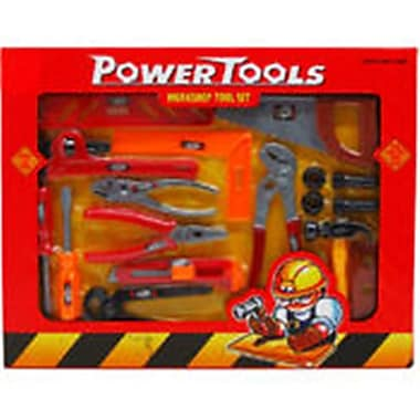 DDI 17 Piece Power Tools Play Set, Assorted Color (DLR340015)