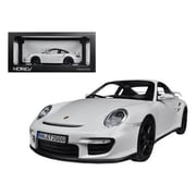 Norev 2007 Porsche 911 997 GT2 White 1-18 Diecast Car Model (DTDP1339)