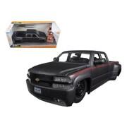 Jada 1999 Chevrolet Silverado Dooley Pickup Truck Matt Grey Just Trucks with Extra Wheels 1-24 Diecast Model (DTDP1577)