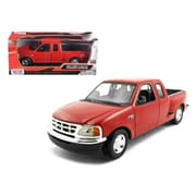 Motormax Ford F-150 Pickup Truck Flareside Supercab Red 1-24 Diecast Model Car (DTDP721)