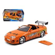 Jada Brians Toyota Supra Orange Fast & Furious Movie 1-24 Diecast Model Car (DTDP1878)