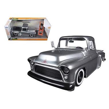 Jada 1955 Chevrolet Stepside Pickup Truck Silver Just Trucks with Extra Wheels 1-24 Diecast Model (DTDP1576)
