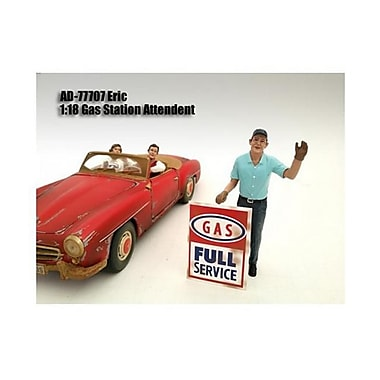 American Diorama Gas Station Attendant Eric Figure for 1-18 Diecast Model Cars (DTDP2251)