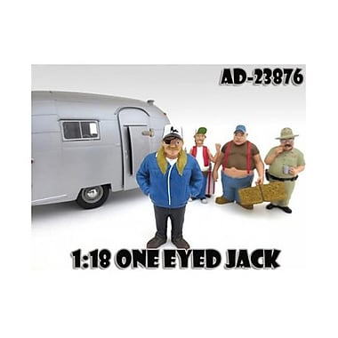 American Diorama One Eyed Jack Trailer Park Figure for 1-18 Scale Diecast Model Cars (DTDP2007)