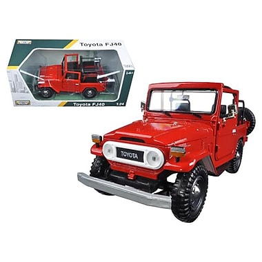 Motormax 1 by 24 Scale Diecast Toyota FJ40 Convertible Red Model Car (DTDP2877)