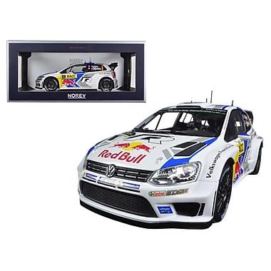 Norev 1 by 18 Scale Diecast Volkswagen Polo R WRC1 Red Bull Rally Spain Winner 2014 Ogier & Ingrassia Model Car (DTDP2777)