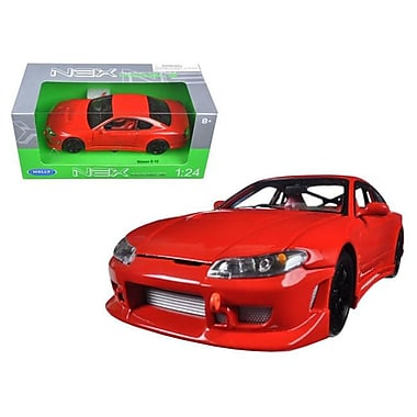 Welly 1 by 24 Scale Diecast Nissan S-15 RHD Red Model Car (DTDP2873)