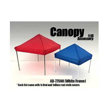 American Diorama 1 by 18 Scale Canopy Accessory Blue & Red with 1 White Frame (DTDP2792)