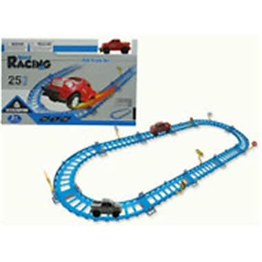 DDI 4 in. Battery Operated Track Racing Set, Assorted Colors (DLR339500)