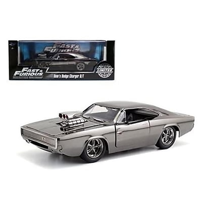 Jada Fast & Furious Movie Doms Dodge Charger Chrome Limited Edition Diecast Model Car for 1-24 Scale (DTDP3702) 24125661