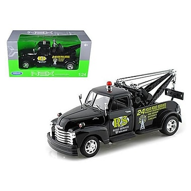 Welly 1953 Chevrolet 3800 Tow Truck Black Road Service 1-24 Diecast Model (DTDP1161)
