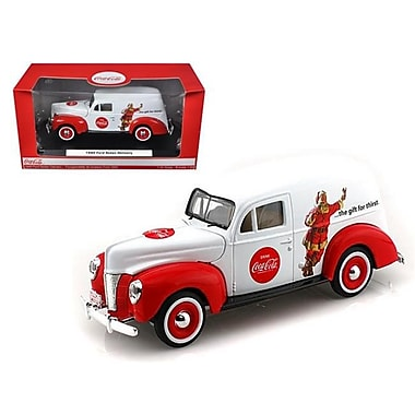 Motorcity Classics 1940 Ford Sedan Delivery Holiday Panel Van Coca Cola The Gift of Thirst 1-24 Diecast Car Model (DTDP2527)