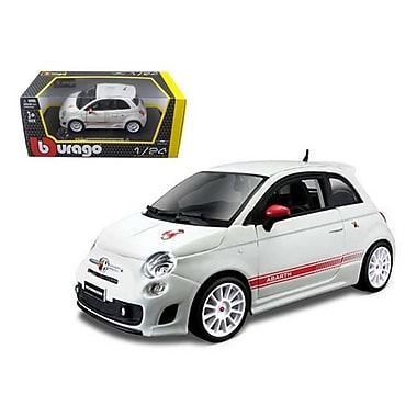 Bburago Fiat Abarth 500 SS Essesse White 1-24 Diecast Car Model (DTDP411)