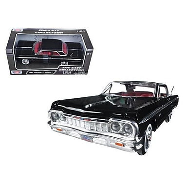 Motormax 1 by 24 Scale Diecast 1964 Chevrolet Impala Black Model Car (DTDP2882)