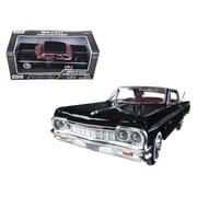 Motormax 1 by 24 Scale Diecast 1964 Chevrolet Impala Black Model Car (DTDP2882)