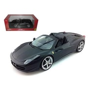 Hot wheels 2012 2013 Ferrari Italia 458 Spider Matt Black 1-18 Diecast Car Model (DTDP2475)