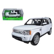 Welly Land Rover Discovery 4 White 1-24 Diecast Model Car (DTDP1206)