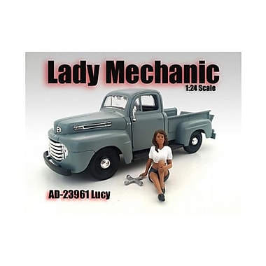 American Diorama Lady Mechanic Lucy Figure for 1-24 Scale Models (DTDP2172)