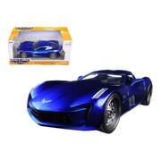 Jada 2009 Chevrolet Corvette Stingray Concept Blue 1-24 Diecast Model Car (DTDP1593)
