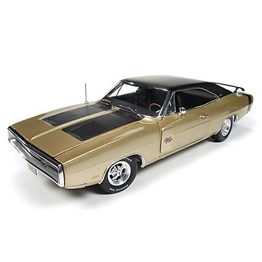 Autoworld 1970 Dodge Charger R-T 50th Anniversary Diecast Model Car for 1-18 Scale, Light Gold (DTDP3830)