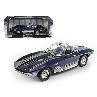 Motormax 1961 Chevrolet Corvette Mako Shark Blue