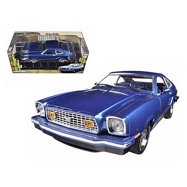 Greenlight 1976 Ford Mustang II Mach 1 Blue with Black 1-18 Diecast Model Car (DTDP421)