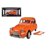 Norev 1975 Citroen 2CV 6 Orange 1-18 Diecast Car Model (DTDP1257)