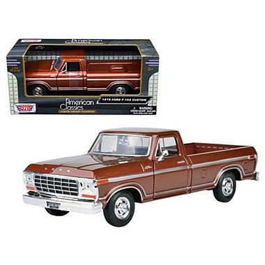 Motormax 1979 Ford F-150 Pickup Truck Diecast Model Car for 1-24 Scale, Brown (DTDP3791)