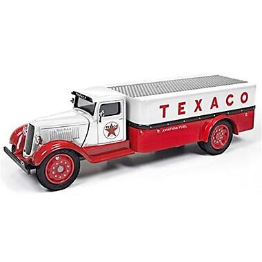 Autoworld 1935 Dodge 3-Ton Platform Truck Texaco 2016 Series Diecast Model Car for 1-38 Scale, Red & White (DTDP3832)