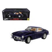 Hot wheels 1 by 18 Scale 1961 Ferrari 250 GT Berlinetta Passo Corto SWB Blue Elite Edition (DTDP2786)